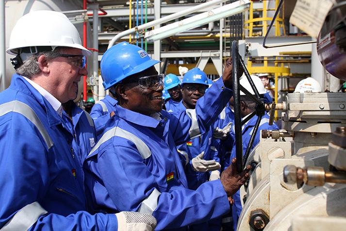 اكتشافات النفط في غانا