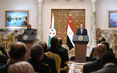 لقاء رسمي للرئيس السيسي ونظيره البوروندي يقود لمرحلة جديدة من الشراكة